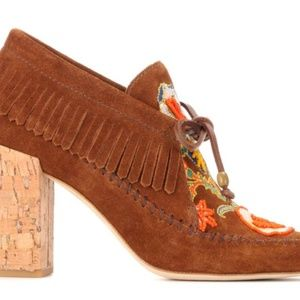 35680f59895 Tory Burch Shoes - TORY BURCH Huntington Fringe Suede Booties 7.5